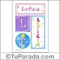 Leticia, nombre, imagen para imprimir