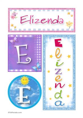 Elizenda, nombre, imagen para imprimir