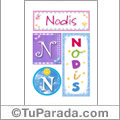 Nodis, nombre, imagen para imprimir
