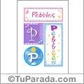 Pebbles, nombre, imagen para imprimir