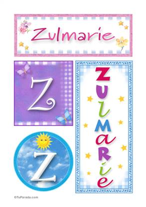 Zulmarie, nombre, imagen para imprimir