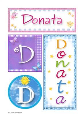 Donata, nombre, imagen para imprimir