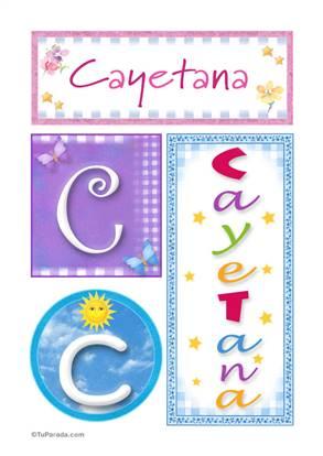 Cayetana, nombre, imagen para imprimir