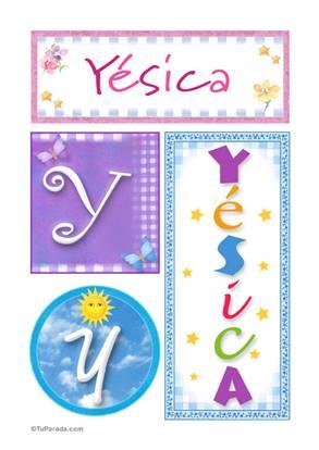 Yésica, nombre, imagen para imprimir