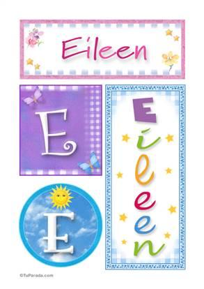 Eileen, nombre, imagen para imprimir