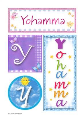 Yohamma, nombre, imagen para imprimir