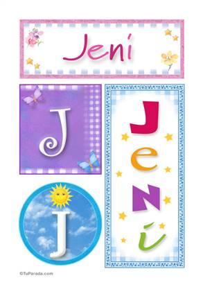 Jeni, nombre, imagen para imprimir