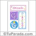 Gisselle, nombre, imagen para imprimir