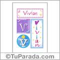 Vivian, nombre, imagen para imprimir