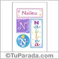 Nailea, nombre, imagen para imprimir