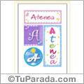 Atenea, nombre, imagen para imprimir