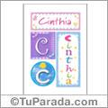 Cinthia, nombre, imagen para imprimir