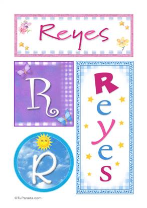 Reyes, nombre, imagen para imprimir