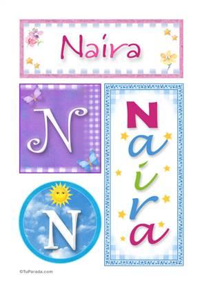 Naira, nombre, imagen para imprimir