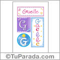 Gaelle, nombre, imagen para imprimir