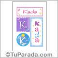 Kada, nombre, imagen para imprimir