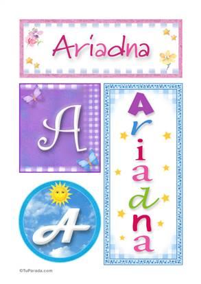 Ariadna, nombre, imagen para imprimir