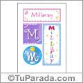 Millaray, nombre, imagen para imprimir