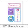 Marietta, nombre, imagen para imprimir