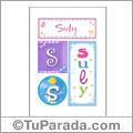 Suly, nombre, imagen para imprimir