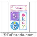 Skay, nombre, imagen para imprimir