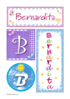 Bernardita, nombre, imagen para imprimir