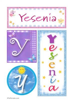 Yesenia, nombre, imagen para imprimir