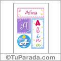 Alina, nombre, imagen para imprimir