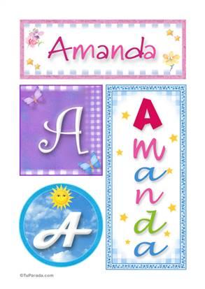 Amanda, nombre, imagen para imprimir