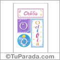 Odilia, nombre, imagen para imprimir