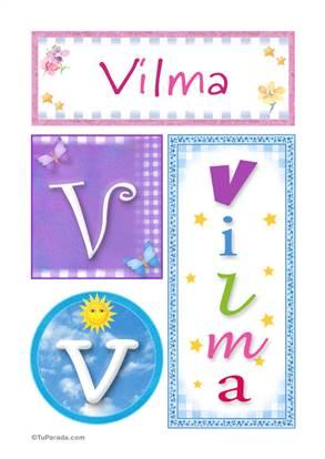 Vilma, nombre, imagen para imprimir