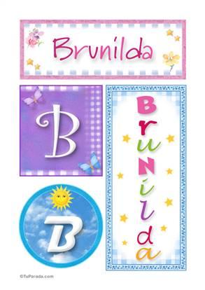 Brunilda, nombre, imagen para imprimir