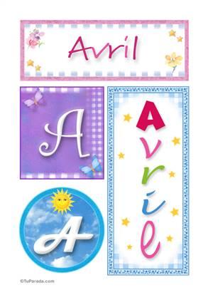 Avril, nombre, imagen para imprimir