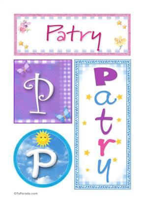 Patry, nombre, imagen para imprimir