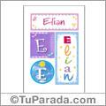 Elian, nombre, imagen para imprimir