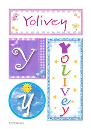 Yolivey, nombre, imagen para imprimir