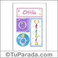 Otilia, nombre, imagen para imprimir