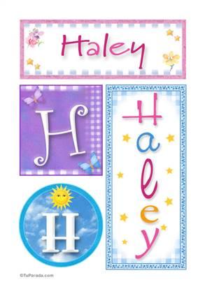 Haley, nombre, imagen para imprimir