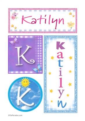 Kaitlyn, nombre, imagen para imprimir