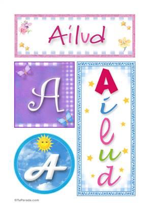 Ailud, nombre, imagen para imprimir