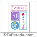 Astrid, nombre, imagen para imprimir