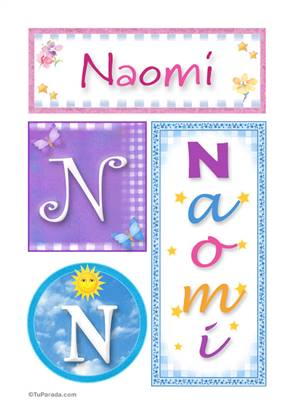 Naomi, nombre, imagen para imprimir