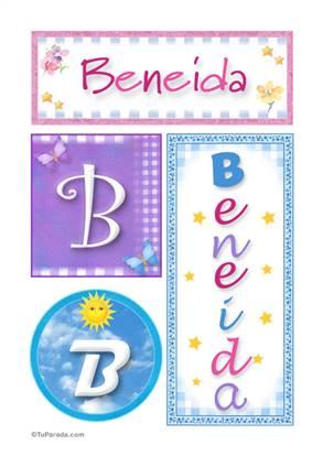 Beneida, nombre, imagen para imprimir