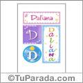 Daliana, nombre, imagen para imprimir