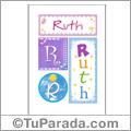 Ruth, nombre, imagen para imprimir