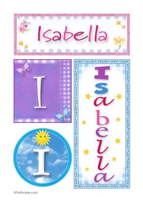 Isabella, nombre, imagen para imprimir