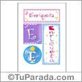 Enriqueta, nombre, imagen para imprimir
