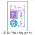 Salet, nombre, imagen para imprimir