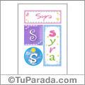 Syra, nombre, imagen para imprimir