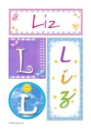 Liz, nombre, imagen para imprimir